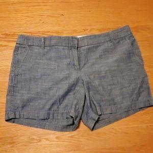 J crew chambray shorts